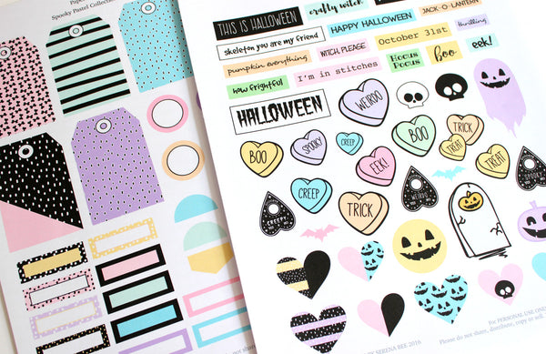 Spooky Pastel Printable Scrapbook Collection, October Daily. Papercakes by Serena Bee
