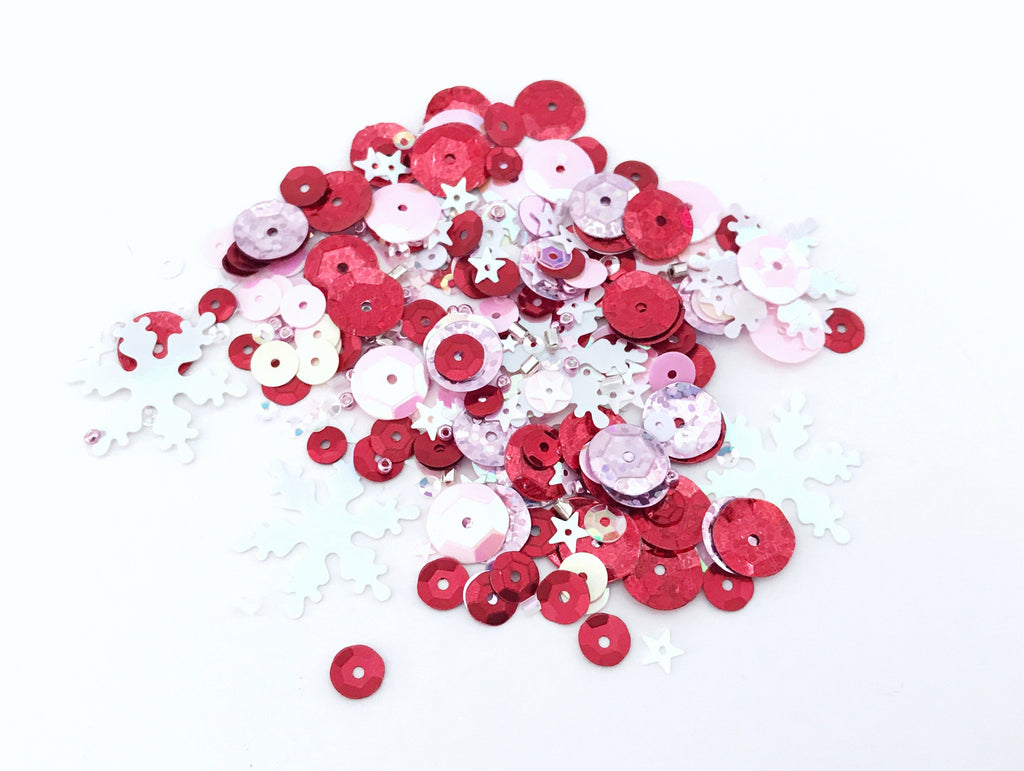 Pink Christmas Sequins Mix. shop.serenabee.com