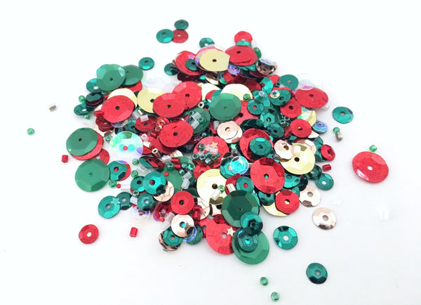 Holly Berries Sequins Mix. shop.serenabee.com
