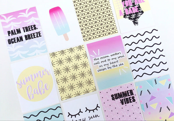 Summer Babe Journaling Cards