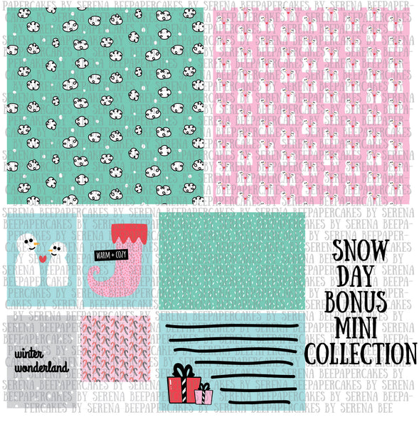 snow day bonus mini collection. papercakes by serena bee