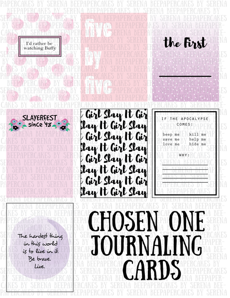 Chosen One Journaling Cards- 3x4 & 4x6