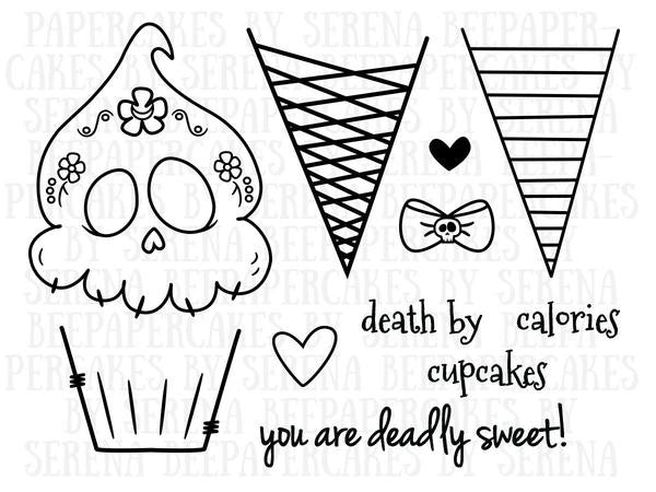 deadly desserts stamp set. papercakes by serena bee