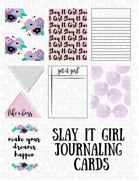 Slay It Girl Journaling Cards- 3x4 & 4x6