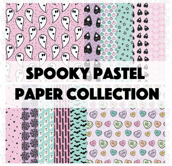 spooky pastel paper collection. shop.serenabee.com
