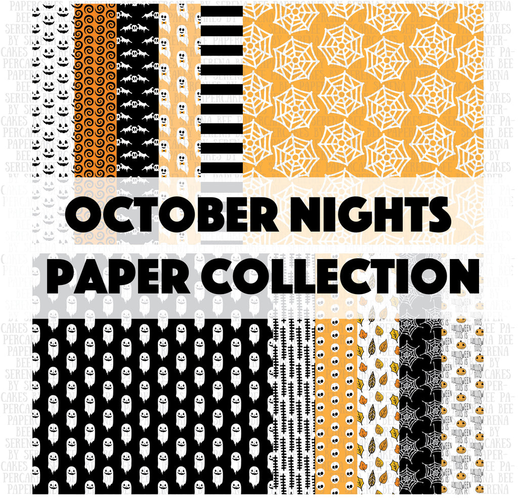 october nights paper collection. shop.serenabee.com
