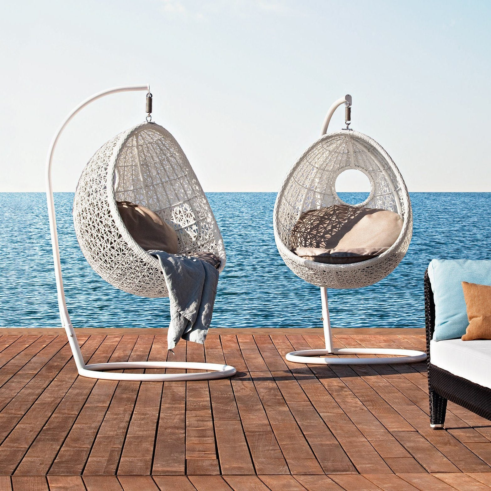 altea hanging lounge chair with stand tb outdoor design