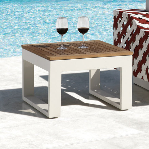 Contract Quality Outdoor Furniture Side Table Teak Wood