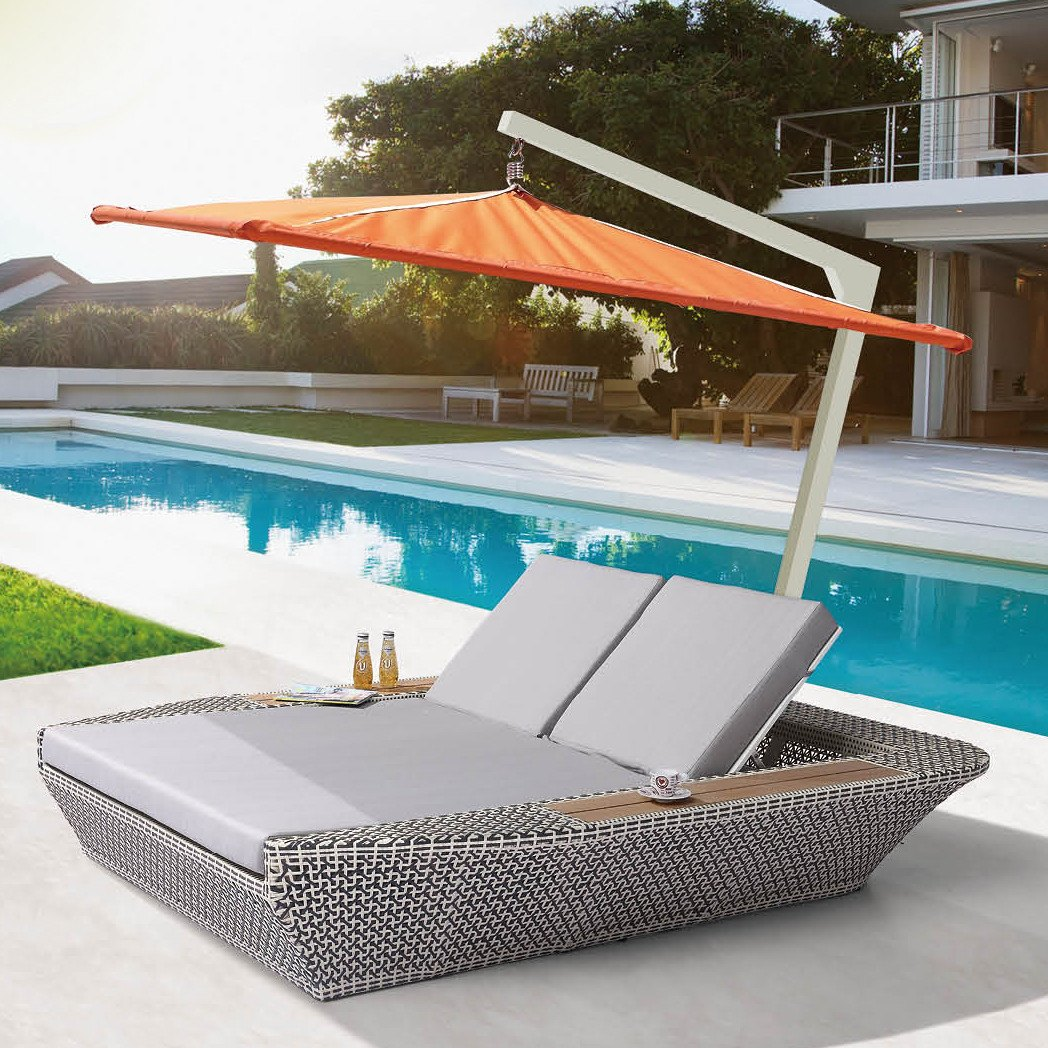 evian double chaise lounge wsun umbrella. evian double chaise lounge wsun umbrella  tb outdoor design