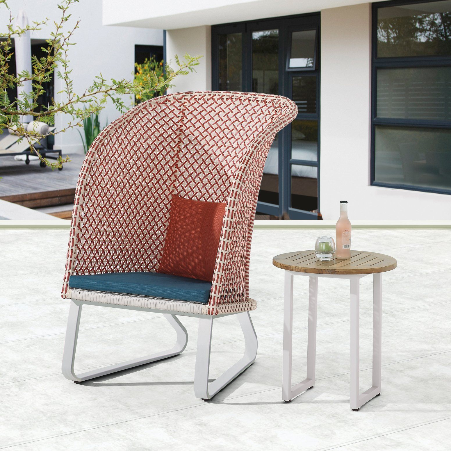 Evian High Back Outdoor Lounge Chair Tb Outdoor Design Outdoor Furniture
