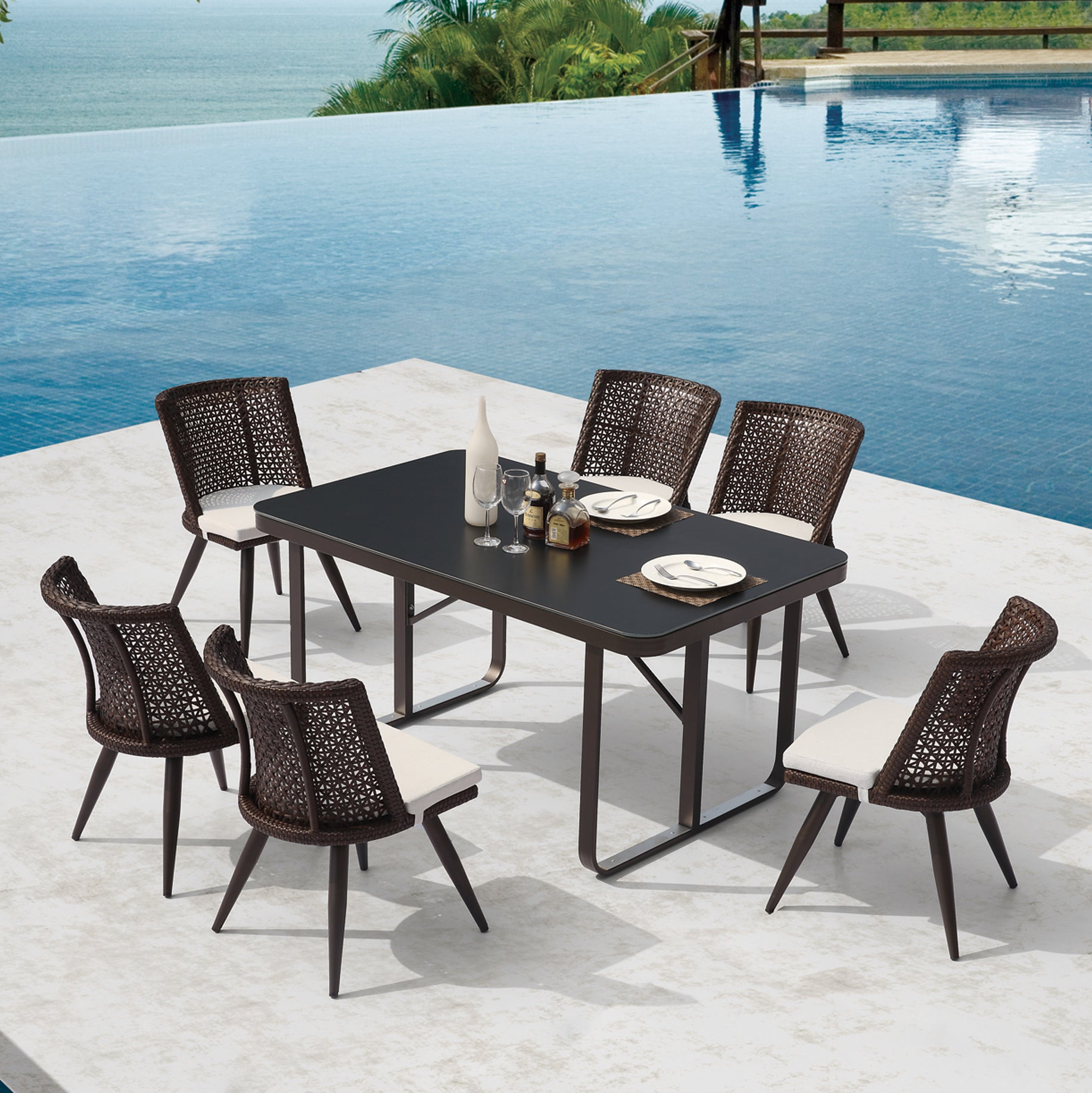Evian dining set sample sale 30 off