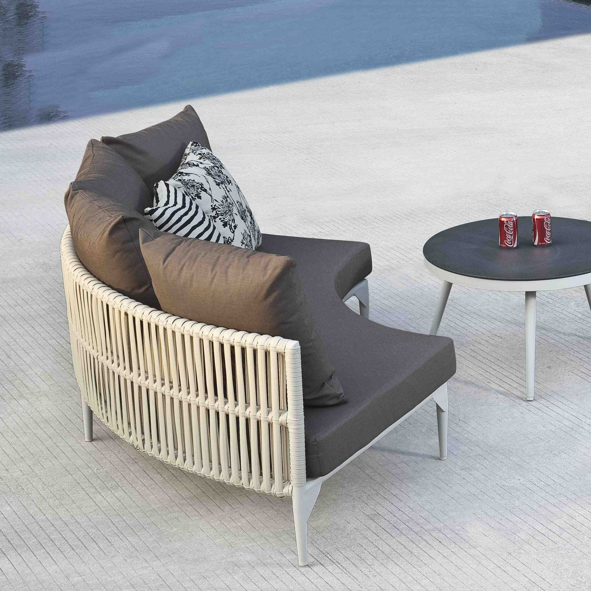 Contract quality outdoor round sofa sample sale
