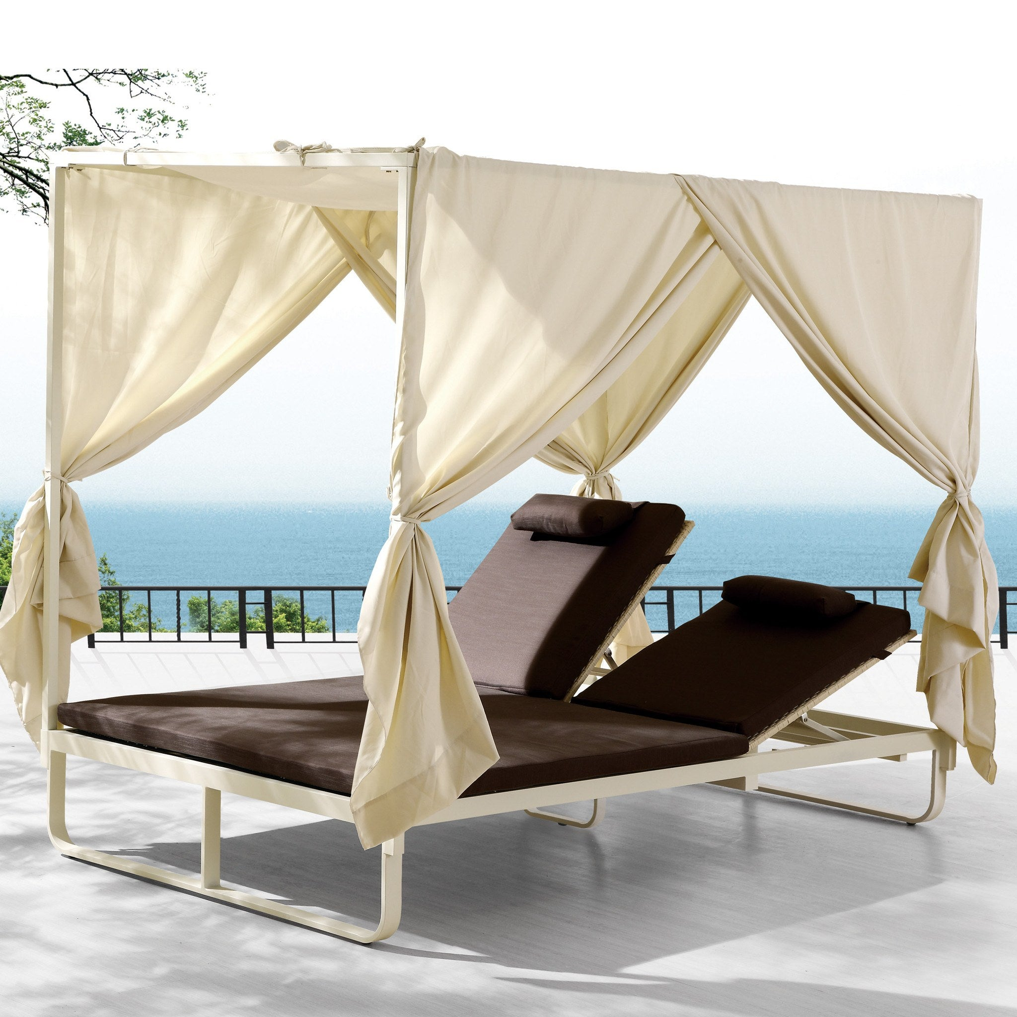ORLANDO Double Chaise Lounge w/Canopy  sc 1 st  TB Outdoor Design & ORLANDO Double Chaise Lounge w/Canopy | TB Outdoor Design ...