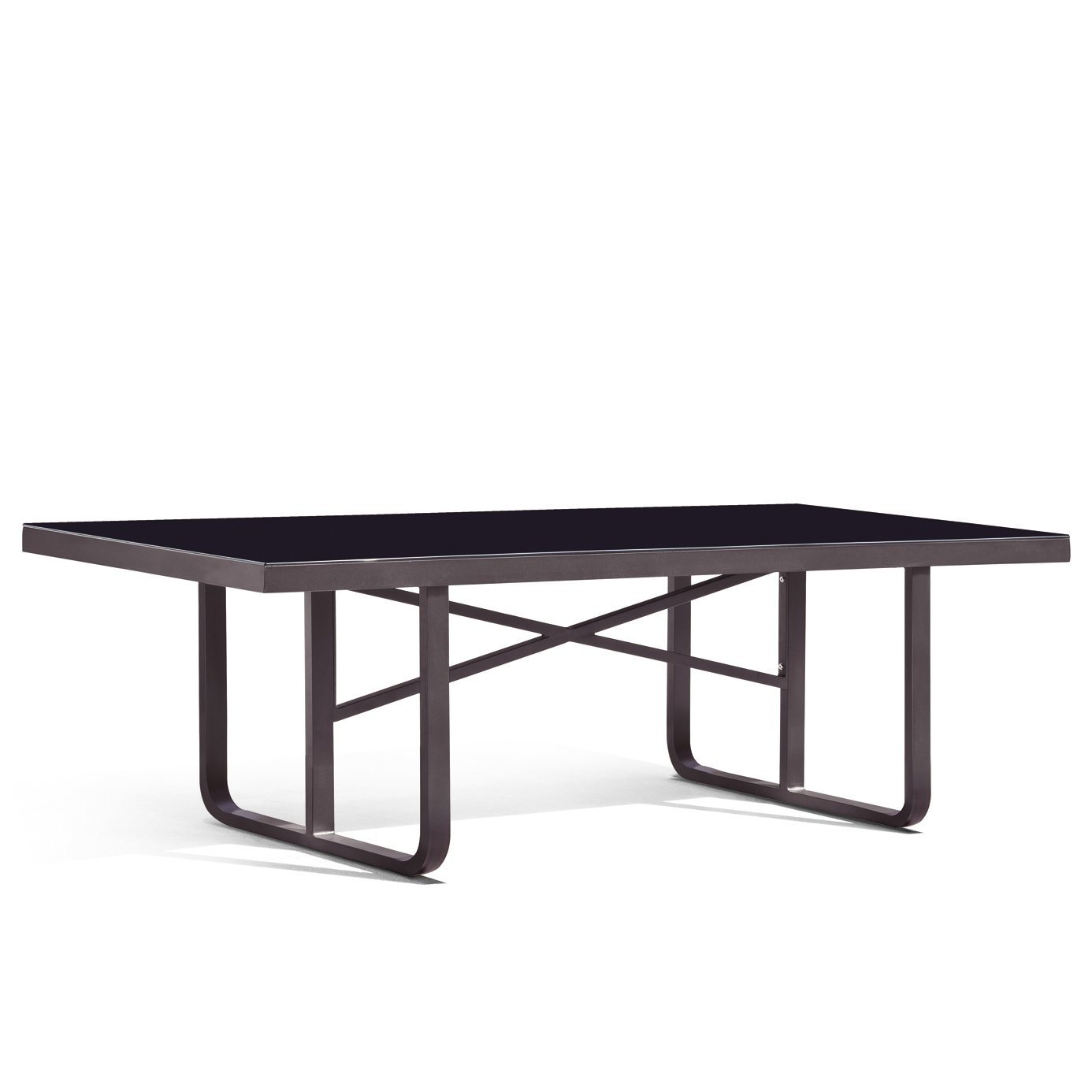 Orlando dining table c w frosted glass top