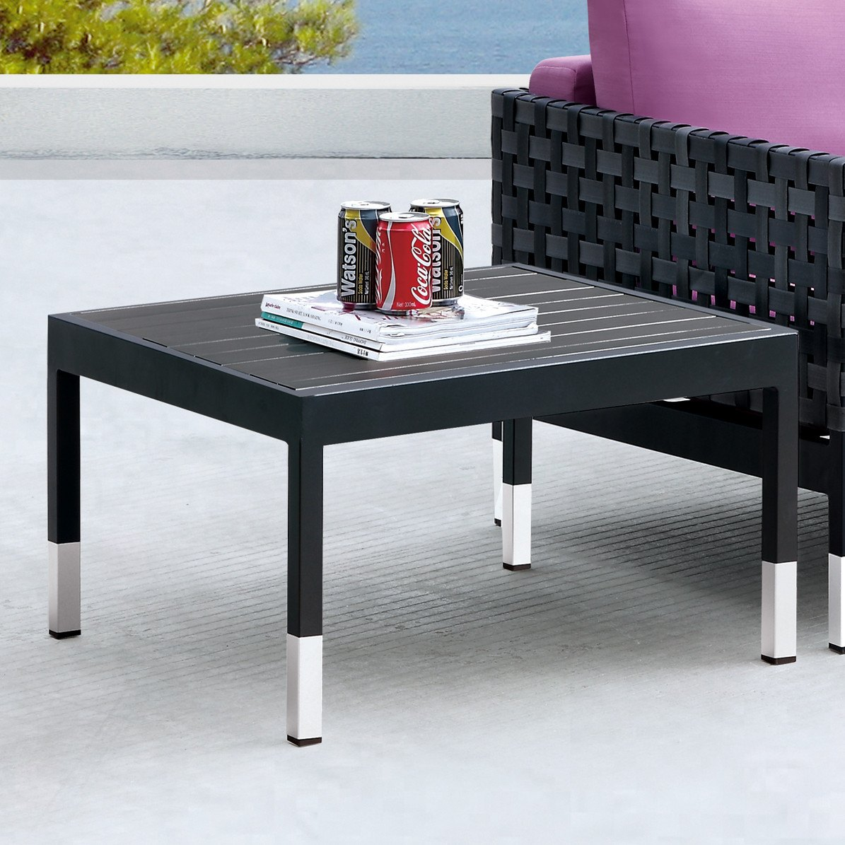 Contract Quality Outdoor Side Table Polywood TB Outdoor Design - Polywood coffee table
