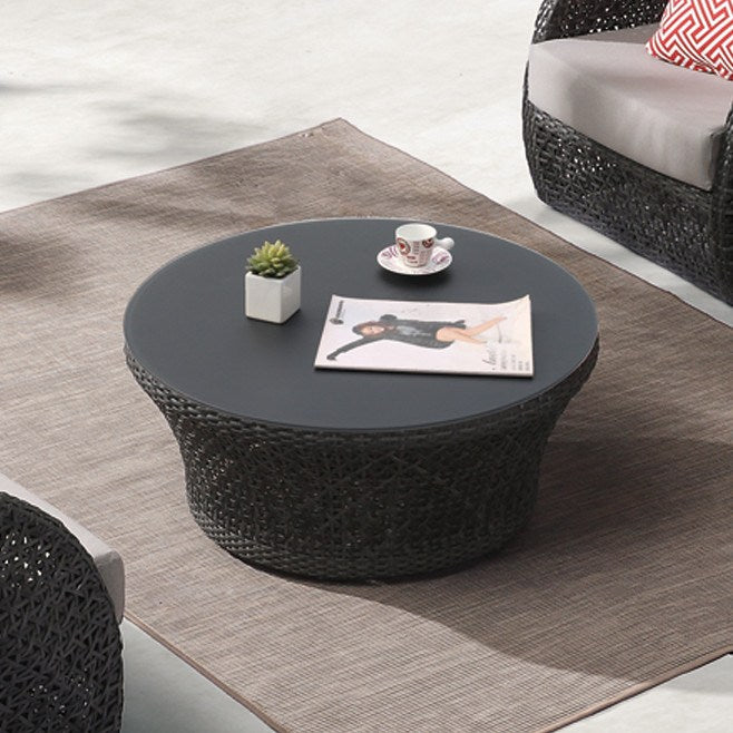 Contract Quality Outdoor Coffee Table Glass Top