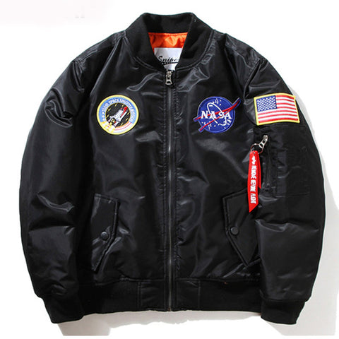 NASA Thin Mens MA1 Jacket Windbreaker Jacket - 520outdoor