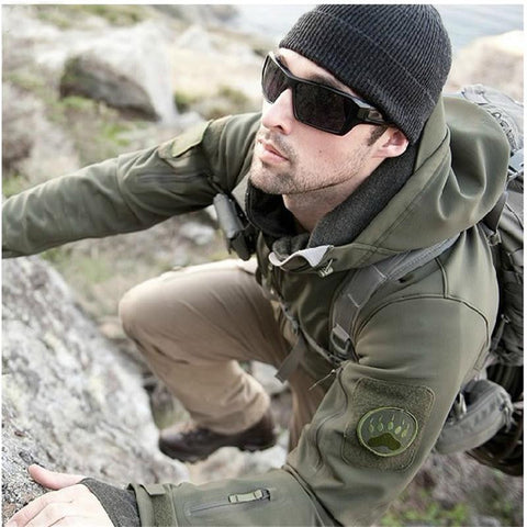 Men Hiking Soft Shell V 5.0 Tactical Jacket 100% Waterproof Coat - 520outdoor
