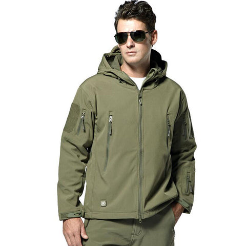 Men's Outdoor Army Military Waterproof Soft shell Tactical Jacket - 520outdoor