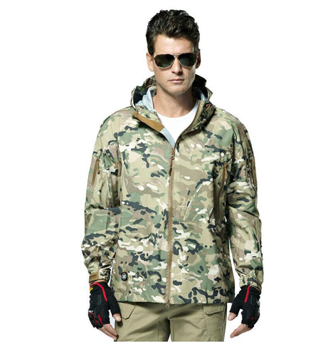 Men  Spring and Autumn Waterproof Light Tactical Jacket - 520outdoor