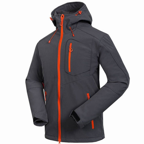 Outdoor Men's Waterproof Hiking Camping Softshell Jackets Coats