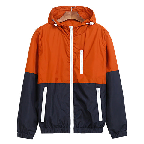 Fashion Spring Jacket Men Women's Hooded Thin Windbreaker Coat - 520outdoor