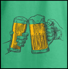 Load image into Gallery viewer, cheers, st patricks day shirt, drinking t shirt, beer shirt, st paddys day shirt,