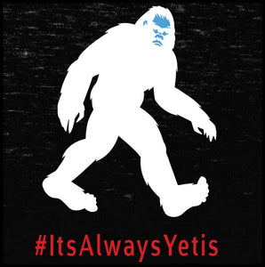yeti, yeti t shirt, it's always yetis,