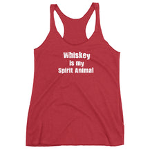 Load image into Gallery viewer, whiskey is my spirit animal, whiskey, alcohol, custom t shirts, tank top,