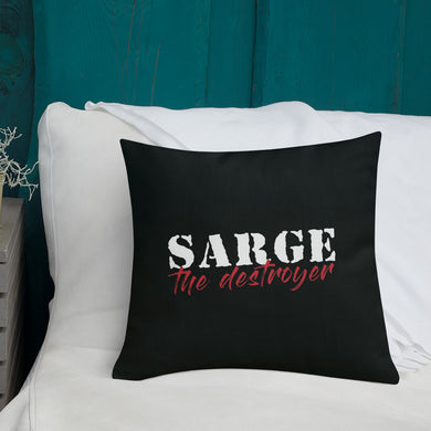 Sarge The Destroyer Logo Pillow