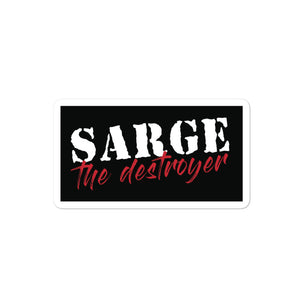 Sarge The Destoryer Logo Sticker