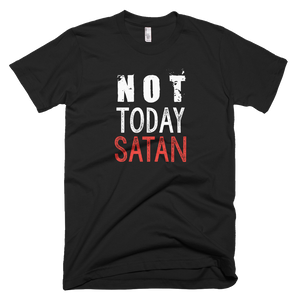 not today satan, t shirt, custom shirt,