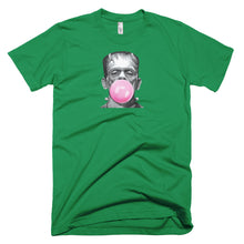 Load image into Gallery viewer, frankenstein tee, frankenstein t shirt, frankenstein blowing bubble,