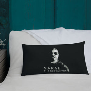 Sarge The Destroyer Pillow