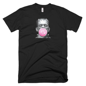 frankenstein tee, frankenstein t shirt, frankenstein blowing bubble,