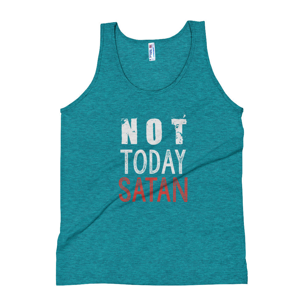 739753c2b ... Load image into Gallery viewer, Not Today Satan Tank Top - Farkle Tees