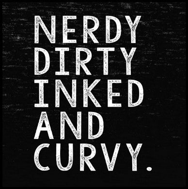 nerdy dirty inked and curvy, sweatshit, womens fashion, hoodie,