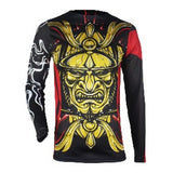 Samurai Series: Long Sleeve Rash Guard & Spat (Gold) - Rash Guard Hero