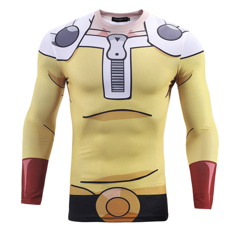 One Punch Man Rash Guard - Rash Guard Hero