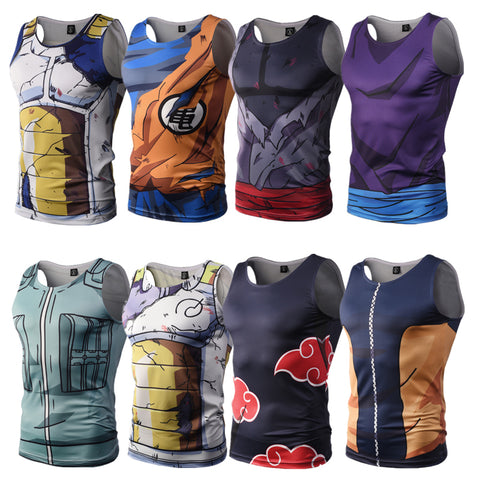 DBZ & Naruto Sleeveless Rash Guard - Rash Guard Hero