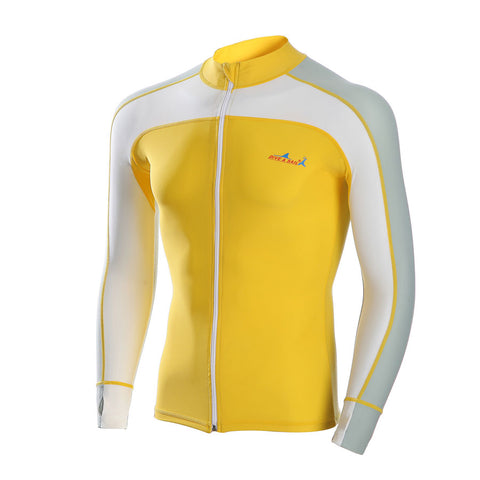 Yellow & Gray Swimwear Rash Guard - Rash Guard Hero