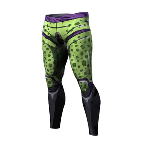 DBZ Compression Pants (Cell & Frieza) - Rash Guard Hero