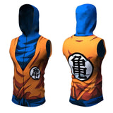 DBZ Naruto Sleeveless Rash Guard Hoodie - Rash Guard Hero