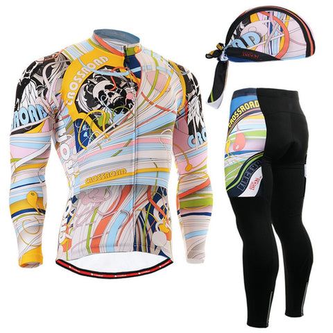 Long Sleeve Cycling Jersey Set - Rash Guard Hero
