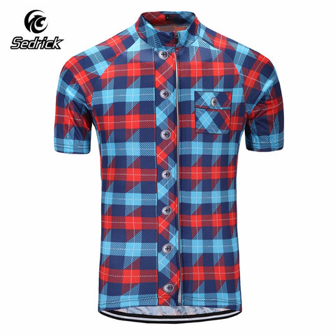 Flannel Pattern Cycling Jersey - Rash Guard Hero