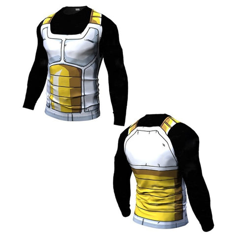 Long & Short Sleeve Black Dragon Ball Rash Guard - Rash Guard Hero