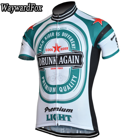 Drunk Again Short Sleeve Cycling Jersey - Rash Guard Hero