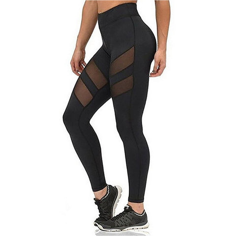 Mesh Splice Fitness Leggings Athleisure - Rash Guard Hero