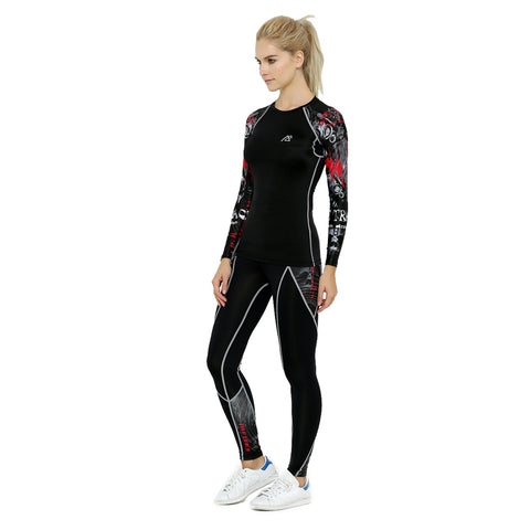 Long Sleeve Rash Guard & Tights Yoga Set - Rash Guard Hero