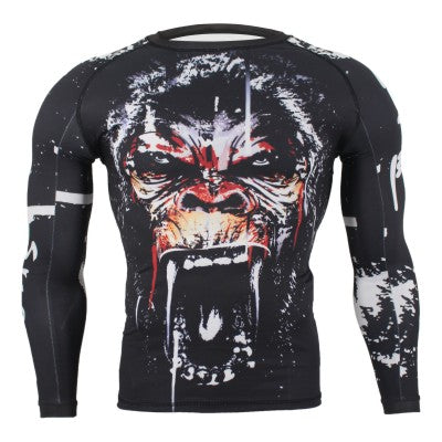 Animal Print Long Sleeve Rash Guard - Rash Guard Hero